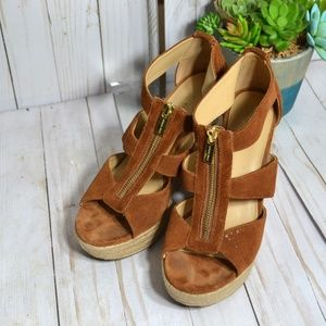 Shoes - Michael Kors Strappy Ankle Sandals Wedge Heels
